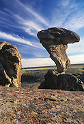 Idaho. Near Castleford, Twin Falls Co. Regionally famous Balanced Rock