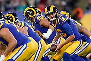 LA Rams Quarterback Jared Goff (16) during the International Series match between Los Angeles Rams and Cincinnati Bengals at Wembley Stadium, London, England on 27 October 2019.