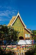 Front view  of Wat Inpeng, Vientiane, Laos.
