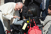 VATICAN CITY, ITALY 20 SEPT 2017: Images from the General Audience with Pope Francis in St. Peters Square on Sept. 20, 2017 Pope Francis greets the faithful.