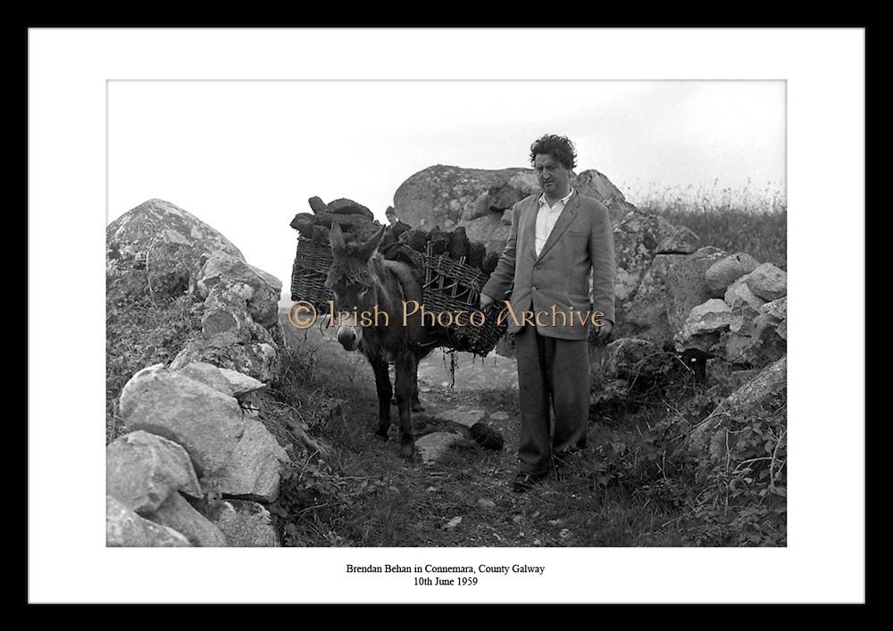 Brendan Behan in Connemara, County Galway<br /> 10th june 1959