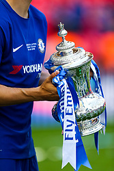 Alvaro Morata of Chelsea holds the trophy after Chelsea win 1-0 to win the FA Cup - Rogan/JMP - 19/05/2018 - FOOTBALL - Wembley Stadium - London, England - Chelsea v Manchester United - FA Cup Final.