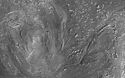 This image from NASA's Mars Reconnaissance Orbiter shows channels to the southeast of Hale crater on southern Mars.