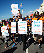 Brighton Pride <br /> parade, atmosphere and music in Preston Park, Brighton, East Sussex, Great Britain <br /> 6th August 2016 <br /> <br /> <br /> Brighton Pride - Peter Tatchell <br /> <br /> Photograph by Elliott Franks <br /> Image licensed to Elliott Franks Photography Services