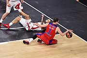 DESCRIZIONE : Madrid Eurolega Euroleague 2014-15 Final Four Semifinal Semifinale Cska Moscow Olympiacos Piraeus Athens Cska Mosca Olympiacos Atene <br /> GIOCATORE : Nando De Colo<br /> SQUADRA : CSKA Mosca<br /> CATEGORIA : palleggio sequenza a terra equilibrio<br /> EVENTO : Eurolega 2014-2015<br /> GARA : Cska Mosca Olympiacos Atene<br /> DATA : 15/05/2015<br /> SPORT : Pallacanestro<br /> AUTORE : Agenzia Ciamillo-Castoria/GiulioCiamillo<br /> Galleria : Eurolega 2014-2015<br /> DESCRIZIONE : Madrid Eurolega Euroleague 2014-15 Final Four Semifinal Semifinale Cska Moscow Olympiacos Piraeus Athens Cska Mosca Olympiacos