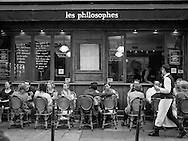 cafe scene at Les Philosophes, in the Marais quarter of Paris