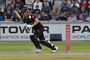 Colin Ackemann batting during the Vitality T20 Blast North Group match between Lancashire Lightning and Leicestershire Foxes at the Emirates, Old Trafford, Manchester, United Kingdom on 30 August 2019.