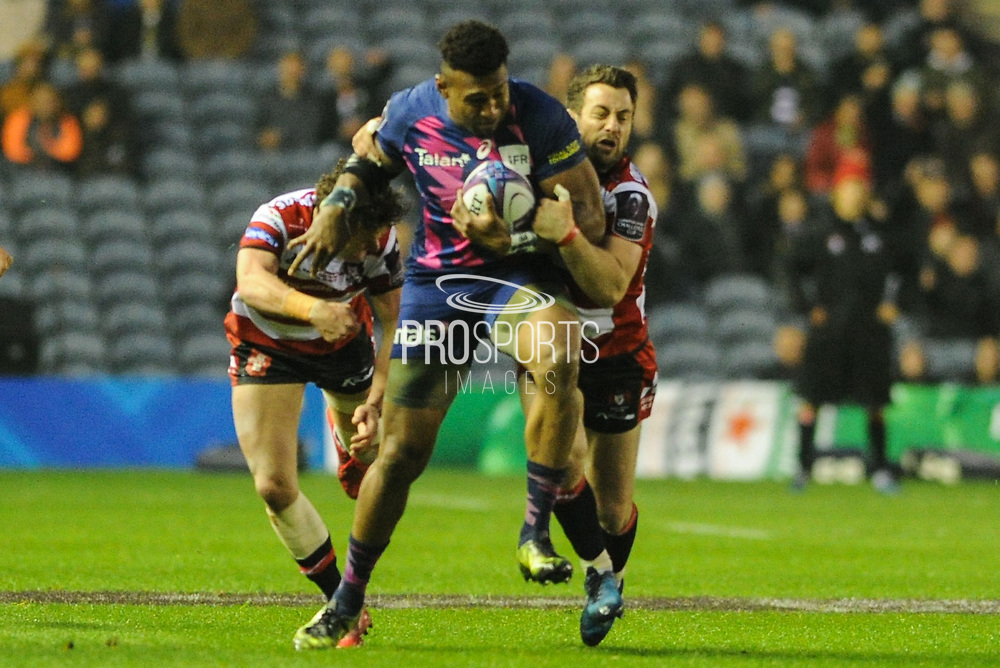 Greg Laidlaw could not make the difference for Gloucester during the European Rugby Challenge Cup match between Gloucester Rugby and Stade Francais at BT Murrayfield, Edinburgh, Scotland on 12 May 2017. Photo by Kevin Murray.