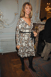 SABRINA GUINNESS at a party to celebrate the publication of 101 World Heroes by Simon Sebag-Montefiore at The Savile Club, 69 Brook Street, London W1 on 9th October 2007.<br /><br />NON EXCLUSIVE - WORLD RIGHTS