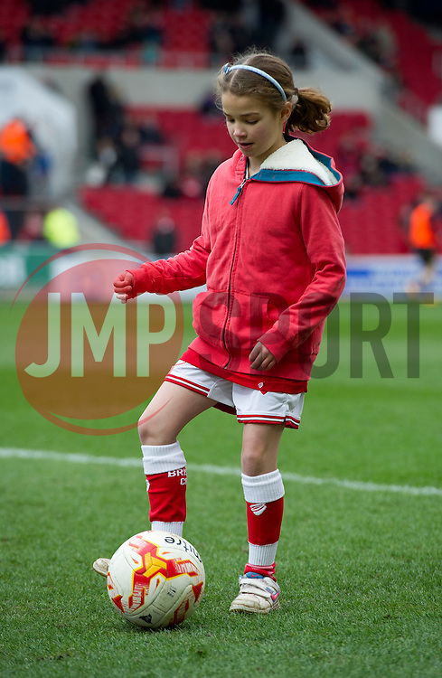 Mascot at Ashton Gate Stadium for the Sky Bet Championship game between Bristol City and Bolton Wanderers on 19 March 2016 in Bristol, England - Mandatory by-line: Paul Knight/JMP - Mobile: 07966 386802 - 19/03/2016 -  FOOTBALL - Ashton Gate Stadium - Bristol, England -  Bristol City v Bolton Wanderers - Sky Bet Championship