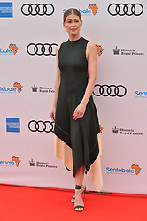 © Licensed to London News Pictures. 11/06/2019. London, UK. Rosamund Pike attends the Sentebale Audi Concert at Hampton Court Palace. Photo credit: Ray Tang/LNP