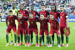 June 20, 2017 - Gdynia, Poland - The Portugal team before their UEFA European Under-21 Championship match against Spain on June 20, 2017 in Gdynia, Poland. (Credit Image: © Andrew Surma/NurPhoto via ZUMA Press)