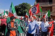 Roma 3 Giugno 2015<br /> Momenti di tensione al presidio anti-rom a Boccea, a Roma, cui hanno partecipato il movimento di estrema destra Casapound e alcuni comitati di quartiere. Una iniziativa contestata da antifascisti, e movimenti per la casa. Boccea è il quartiere dove mercoledì 27 maggio un'auto guidata da un 17enne  rom, ha investito nove persone e ucciso la 44enne filippina Corazon Abordo.La manifestazione di Casapound contro i campi rom<br /> Rome June 3, 2015<br /> Moments of tension to the protest anti-Roma Boccea in Rome, attended by the far-right movement Casapound and some neighborhood committees. An initiative opposed by anti-fascists, and movements for the house. Boccea is the neighborhood where Wednesday, May 27 car driven by a 17 year old Roma, has invested nine people and killed the 44 year old Filipino Corazon Abordo. The demostration  Casapound against Roma camps