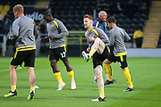 Burton Albion's Stephen Quinn warms up (23) during the second round or the Carabao EFL Cup match between Burton Albion and Aston Villa at the Pirelli Stadium, Burton upon Trent, England on 28 August 2018.