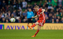 DUBLIN, IRELAND - Tuesday, October 16, 2018: Wales' Matthew Smith during the UEFA Nations League Group Stage League B Group 4 match between Republic of Ireland and Wales at the Aviva Stadium. (Pic by David Rawcliffe/Propaganda)