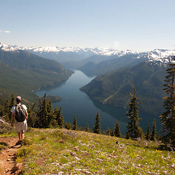 Ross Lake from Desolation Peak, North Cascades National Park, Washington, US