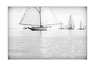 140714_ISON_Panerai_Classics<br /> David Aisher's gaff cutter, Thalia, at the Panerai British Classic Week sailing regatta off Cowes, Isle of Wight. <br /> Picture date Monday 14th July, 2014.<br /> Picture by Christopher Ison. Contact +447544 044177 chris@christopherison.com
