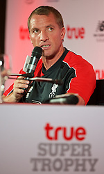 BANGKOK, THAILAND - Monday, July 13, 2015: Liverpool's manager Brendan Rodgers during a press conference at the Plaza Athenee team hotel in Bangkok on day one of the club's preseason tour. (Pic by David Rawcliffe/Propaganda)