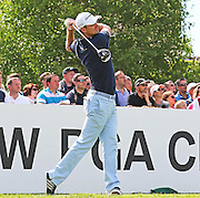 Justin ROSE teeing off from the 1st hole during the 4th day of the BMW PGA Championship at Wentworth, Virginia Water, United Kingdom on 24 May 2015. Photo by Ellie  Hoad.