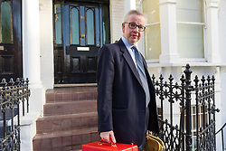 © Licensed to London News Pictures. 03/12/2018. London, UK.  Michael Gove, Secretary of State for Environment, Food and Rural Affairs  leaving his west London home this morning. Mr Gove is backing the Prime Minister, Theresa May's Brexit deal with the European Union and has said that he does not support a second referendum.  Photo credit: Vickie Flores/LNP