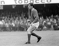 Dennis Viollet, Linfield FC, Belfast, N Ireland. English footballer who also played for Stoke City and Manchester United among others. A survivor of the Munich Air Disaster he was capped twice for England. August 1969. 196908000220DV1<br />