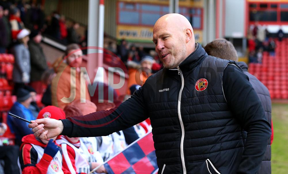 Walsall manager Jon Whitney - Mandatory by-line: Robbie Stephenson/JMP - 26/12/2017 - FOOTBALL - Banks's Stadium - Walsall, England - Walsall v Bristol Rovers - Sky Bet League One
