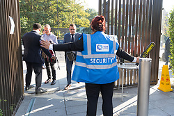 © Licensed to London News Pictures. 02/09/2018. London, UK.  Security check delegates as they arrive at the Jewish Labour Movement Conference 2018..  Photo credit: Vickie Flores/LNP