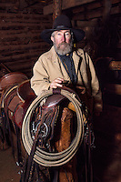 WY02381-00...WYOMING - Bobby Picklesimer in the barn at the Willow Creek Ranch. MR# P10