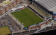 aerial photograph of  Cardiff Arms Park Stadium  Wales UK