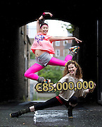 Jump for Joy.Dancers gather in Dublin to reveal the ?85M Euromillons Jackpot for this Tuesday's Draw. Pic Andres Poveda CPR
