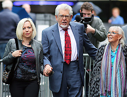 Rolf Harris arriving  with his wife and daughter at Southwark Crown Court in  London, Thursday, 8th May 2014. Picture by Stephen Lock / i-Images