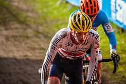 David FLETCHER (59,GBR), 6th lap at Men UCI CX World Championships - Hoogerheide, The Netherlands - 2nd February 2014 - Photo by Pim Nijland / Peloton Photos