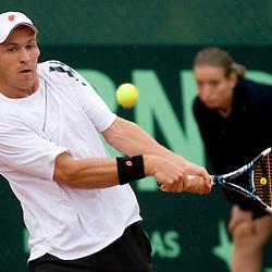 20090710: Tennis - Davis cup, Slovenia vs Lithuania, G. Zemlja vs R. Berankis and Kavcic vs Sabeckis