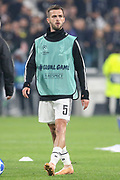 Juventus Midfielder Miralem Pjanic warm up during the Champions League Group H match between Juventus FC and Manchester United at the Allianz Stadium, Turin, Italy on 7 November 2018.