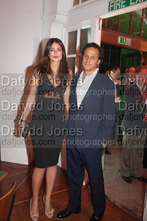 Kim Johnson; Arun Nayar, DINNER TO CELEBRATE THE ARTISTS OF FRIEZE PROJECTS AND THE EMDASH AWARD 2012 hosted by ANDREA DIBELIUS founder EMDASH FOUNDATION, AMANDA SHARP and MATTHEW SLOTOVER founders FRIEZE. THE FORMER CENTRAL ST MARTIN'S SCHOOL OF ART AND DESIGN, SOUTHAMPTON ROW, LONDON WC1. 11 October 2012