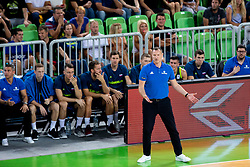 Radoslav Trifunovic, Head coach of Slovenia during basketball match between National teams of Slovenia and Turkey in Round #8 of FIBA Basketball World Cup 2019 European Qualifiers, on September 17, 2018 in Arena Stozice, Ljubljana, Slovenia. Photo by Urban Urbanc / Sportida