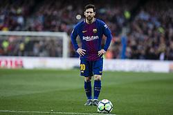 March 4, 2018 - Barcelona, Catalonia, Spain - 10 Leo Messi from Argentina of FC Barcelona during La Liga match between FC Barcelona v Atletico de Madrid at Camp Nou Stadium in Barcelona on 04 of March, 2018. (Credit Image: © Xavier Bonilla/NurPhoto via ZUMA Press)