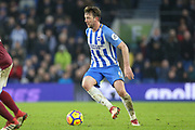 Brighton and Hove Albion midfielder Dale Stephens (6) during the Premier League match between Brighton and Hove Albion and West Ham United at the American Express Community Stadium, Brighton and Hove, England on 3 February 2018. Picture by Phil Duncan.