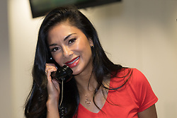 © Licensed to London News Pictures. 11/09/2018. London, UK.  Nicole Scherzinger at the 14th Annual BGC Charity Day held on the trading floor of BGC Partners in Canary Wharf, to raise money for charitable causes in commemoration of BGC's 658 colleagues and the 61 Eurobrokers employees lost on 9/11.  Photo credit: Vickie Flores/LNP