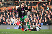 Bristol City midfielder, Marlon Pack (21) celebrating scoring goal 1-1 during the Sky Bet Championship match between Fulham and Bristol City at Craven Cottage, London, England on 12 March 2016. Photo by Matthew Redman.