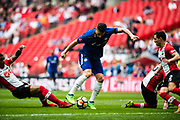 Chelsea (18) Olivier Giroud scoring goal during the The FA Cup match between Chelsea and Southampton at Wembley Stadium, London, England on 22 April 2018. Picture by Sebastian Frej.