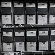 BOWIE, MD- MAY3: The documents vault at the U.S. Holocaust Memorial Museum's David and Fela Shapell Family Collections, Conservation and Research Center in Bowie, MD, May 3, 2017. The 80,000-square-foot Shapell Center is a state-of-the-art facility that will house the collection of record of the Holocaust, including historical artifacts, documents, photographs, film and other objects related to the Holocaust. (Photo by Evelyn Hockstein/For The Washington Post)