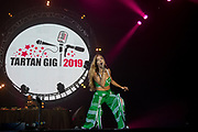 Becky Hill performs in front of 10000 fans from Girl Guiding UK during the Girl Guiding Scotland Tartan Gig at SSE Hydro, Glasgow, Scotland on 31 August 2019. Picture by Colin Poultney.