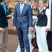 Koningsdag 2014 in Amstelveen, het vieren van de verjaardag van de koning. / Kingsday 2014 in Amstelveen, celebrating the birthday of the King. <br /> <br /> <br /> Op de foto / On the photo:  Prins Pieter-Christiaan / Prince Pieter-Christiaan