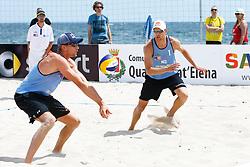 20140606 ITA: EK Beachvolleybal, Cagliari<br /> Robert Meeuwsen, Alexander Brouwer<br /> ©2014-FotoHoogendoorn.nl / Pim Waslander