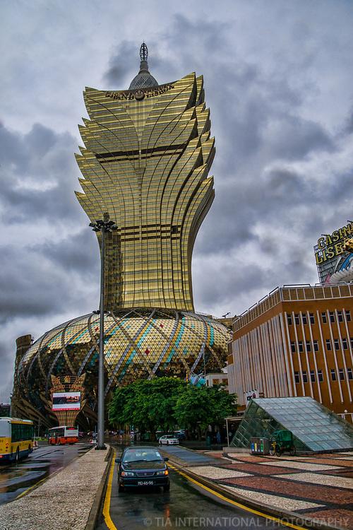 Grand Lisboa Hotel & Casino (Tallest Building in Macau)
