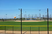 Softball Field at the Great Park, with the Balloon Ride in the Background.