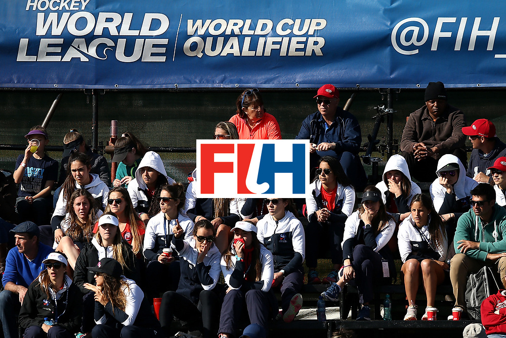 JOHANNESBURG, SOUTH AFRICA - JULY 18:  The Chili team look on during day 6 of the FIH Hockey World League Women's Semi Finals quarter final match between Argentina and Ireland at Wits Univesity on July 18, 2017 in Johannesburg, South Africa.  (Photo by Jan Kruger/Getty Images for FIH)