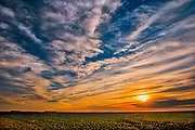 Clouds at sunset on the Canadian Prairie<br />
