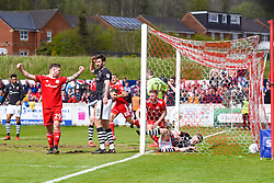 Free to use courtesy of Sky Bet - Accrington Stanley score after a goal mouth scramble - Mandatory by-line: JMP - 28/04/2018 - FOOTBALL - Wham Stadium - Accrington, England - Accrington Stanley v Lincoln City - Sky Bet League Two